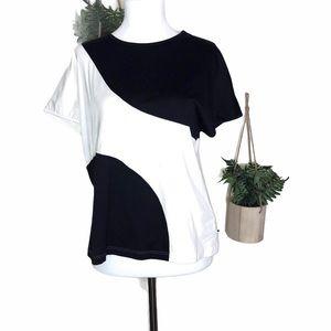 Akris Punto Black White Color Black Shirt Size 14